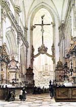 interior of St Mary's church in Krakow