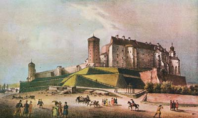 Wawel Royal Castle, early 19th century