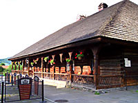 18th-centuru wooden inn in the town of Sucha Beskidzka