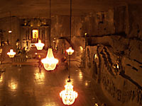 St. Kinga's chapel in the Wieliczka salt mine