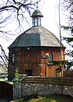Krakow's wooden St. Margaret's chapel of 1690