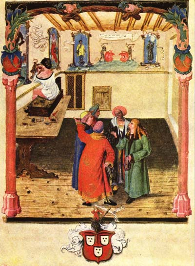 illustration from Balthazar Behem's codex of Krakow