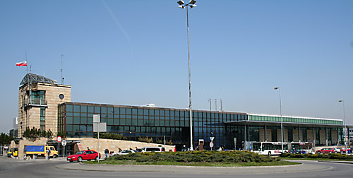 International terminal at the Krakow airport