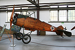 German airplane of 1918 in Krakow's Polish Aviation Museum