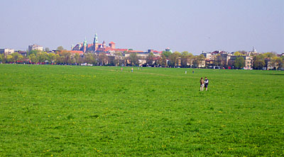 panorama of the central Cracow