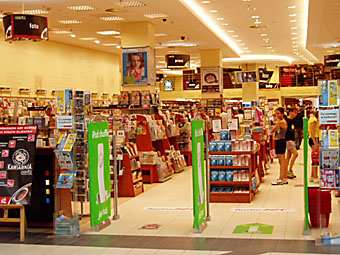 interior of the empik bookstore