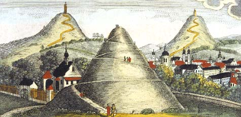 Mounds of Krakow, the 18th-century book illustration