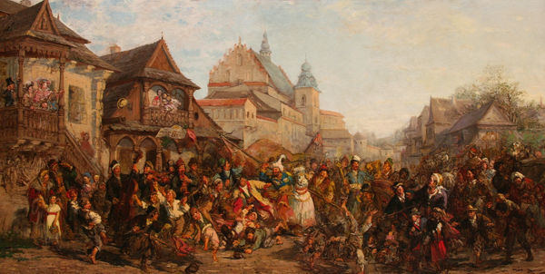 Lajkonik pageant in the 19th century - Krakow, Poland