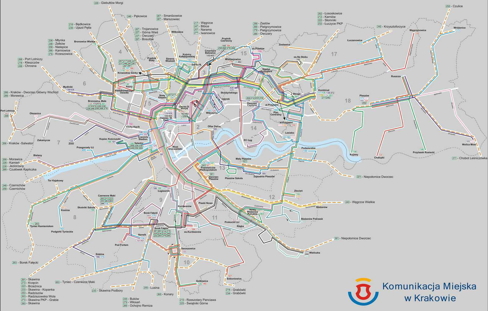 Maps of public transport in krakow bus lines tram lines map of krakow bus lines gumiabroncs Images
