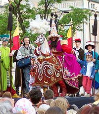 Lajkonik festival takes place in Krakow every June