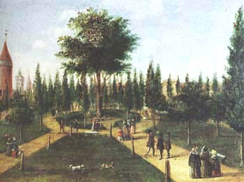 Krakow's Planty gardens in the 19th century