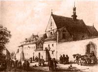 church of St. Casimir�s and the Reformed-Franciscan monastery in the mid 19th century