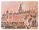 Cloth Hall on the central square of Krakow
